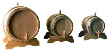 Barrel Decorative Oak With Stand And Tap 3 Litre